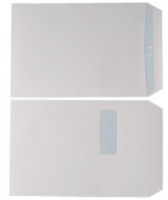C4 White Window Envelopes