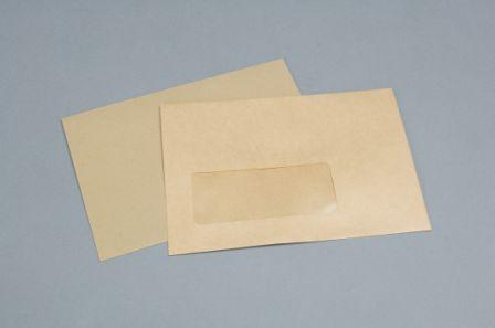 C6 Manilla Window Envelopes