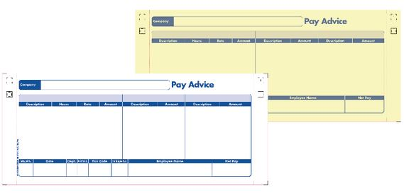 Payslip Printed Stationery