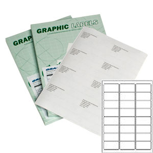 A24 Graphic Laser Labels WHITE