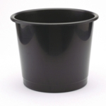 PVC Waste Bin Black