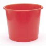 PVC Waste Bin Red