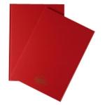 A4 Manuscript Book Red