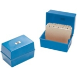 Card Index Box, 8x5 Blue