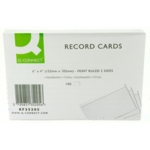 Ruled Record Cards, 8x5