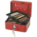 "6"" Cash Box, Red"