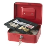 "8"" Cash Box, Red"