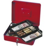 "12"" Cash Box, Red"