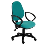 Windsor High Back Operator Chair With Fixed Arms