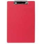 Single A4 PVC Clipboard Red