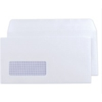 DL White 80gsm Window S/S Envelope SL150