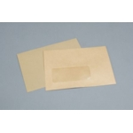 C6 Manilla Window gummed Envelope, 1334 NV358