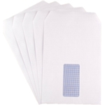 C5 White 90gsm Window S/S SHORT FLAP Env