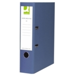 Q PVC Lever Arch File F /C Blue SPLIT PACK
