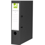 Q PVC Lever Arch File F /C Black SPLIT PACK