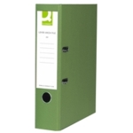 Q PVC Lever Arch File F /C Green SPLIT PACK