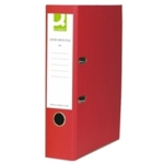 Q PVC Lever Arch File A4 , Red SPLIT PACK