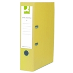 Q PVC Lever Arch File A4 , Yellow SPLIT PACK