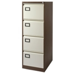 Filing Cabinet 4-drawer, Coffee Cream