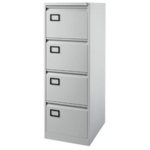 Filing Cabinet 4-drawer, Grey