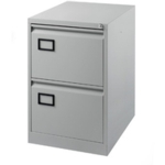 Filing Cabinet 2-drawer, Grey