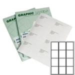 A12 Graphic Laser labels 12/sh