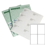 A4 Graphic Laser Labels 4/sh 98.8x139mm