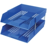 Plastic Letter Tray, Blue