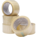 TWO INCH CLEAR Tape, 50mmx66mtr SPLIT PACK