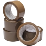 "2"" Buff Vinyl Tape 50mmx66mtr SPLIT PACK"