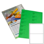 A2 GRN Graphic Laser Labels GREEN