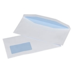 121x235mm White Window Gummed Envelopes