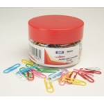 Necessities Tubs Paper Clips 33mm Striped Pk250