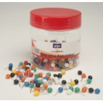 Necessities Tubs Map Pins Assorted Colours Pk300