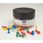 Necessities Tubs Push Pins Assorted Colours Pk200