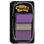 Post-it Index Tab 25mm Purple Pk12