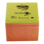 Post-it Neon Pink/Yellow Z-Notes 76x76mm