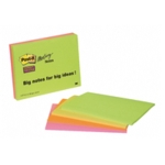 Post-it Neon S/Sticky Meeting Notes Pk4