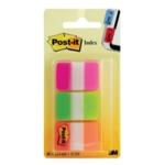 Post-it Strong Index Pink/Grn/Orange