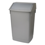 Addis Metallic Grey 60 Ltr Fliptop Bin
