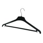 FF Alba Plastic Coat Hanger Black Pk20
