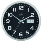 Acctim Chrome/Black Wall Clock