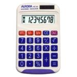 Aurora Wht 8-digit Hand Calculator HC133