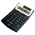 Aurora Black/White 12-digit Desk Calc