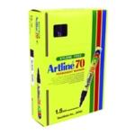 Artline 70 Bullet Perm Marker Black Pk12