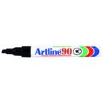 Artline 90 Chisel Tip Marker Black Pk12