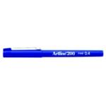 Artline 200 Fineliner Pen Blue Pk12