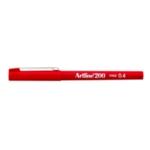 Artline 200 Fineliner Pen Red Pk12