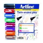 Artline 2 in 1 Wbrd Marker Blt Asstd Pk8
