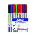 Artline 2 in 1 Wbrd Marker Fine Astd Pk8